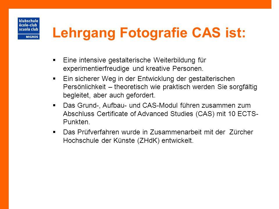 Lehrgang Fotografie CAS ist:  Eine intensive gestalterische Weiterbildung für experimentierfreudige und kreative Personen.  Ein sicherer Weg in der