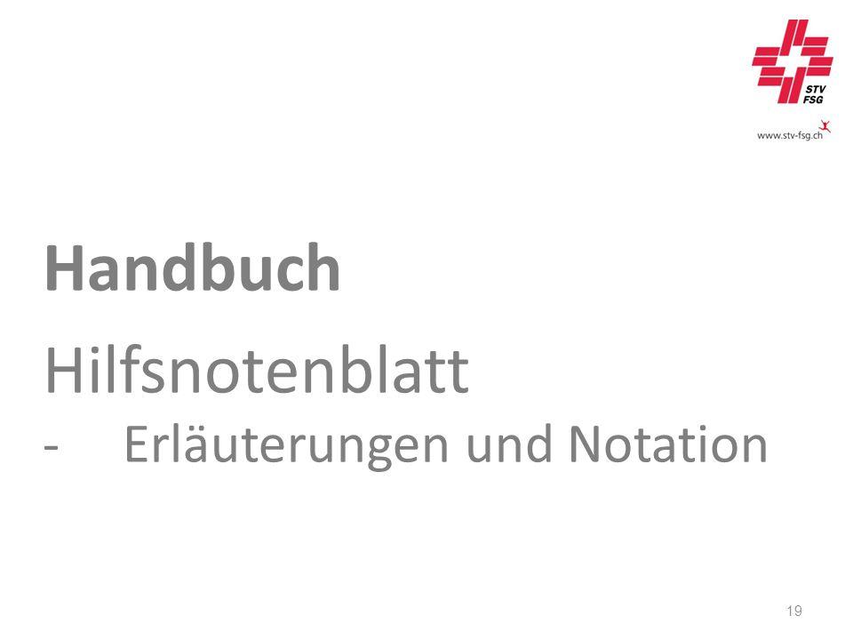 Handbuch Hilfsnotenblatt -Erläuterungen und Notation 19
