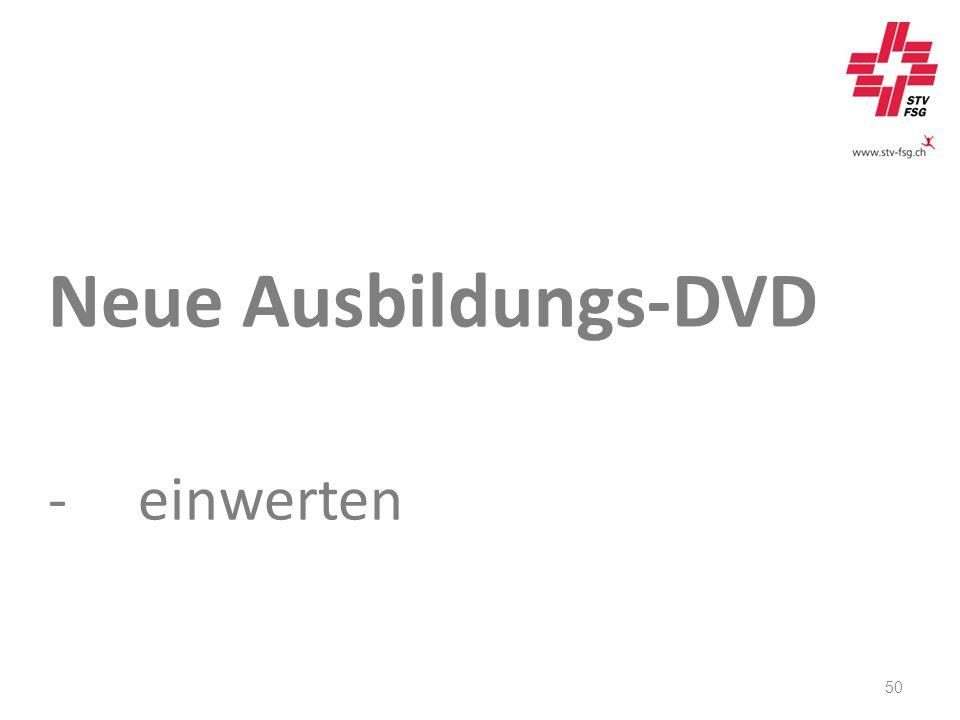 Neue Ausbildungs-DVD -einwerten 50