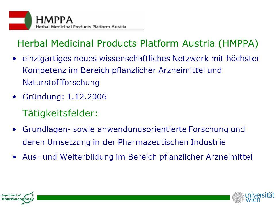 Herbal Medicinal Products Platform Austria (HMPPA) einzigartiges neues wissenschaftliches Netzwerk mit höchster Kompetenz im Bereich pflanzlicher Arzn