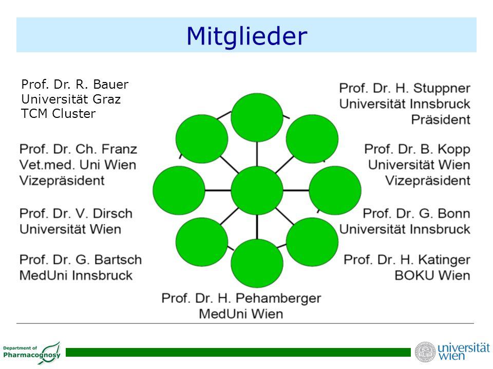 Mitglieder Prof. Dr. R. Bauer Universität Graz TCM Cluster