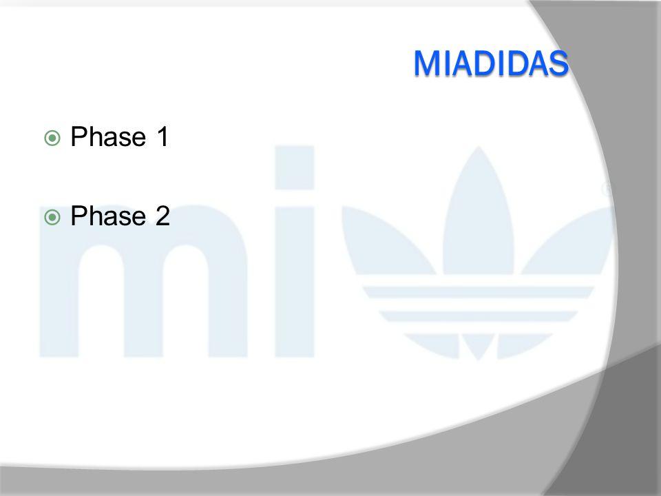 MIADIDAS Beispielschuh: cc sonic boost Normaler VK: 99,95€ Mi-VK: 119,95€ 4 Hauptkategorien, in denen zusätzliche Personalisierungs-möglichkeiten vorhanden sind Keine europäische Schuhgrößenauswahl Kostenloser Versand 45 Tage Lieferzeit Kostenlose Rücksendung