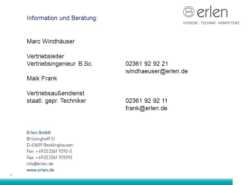 22 Marc Windhäuser Vertriebsleiter Vertriebsingenieur B.Sc.