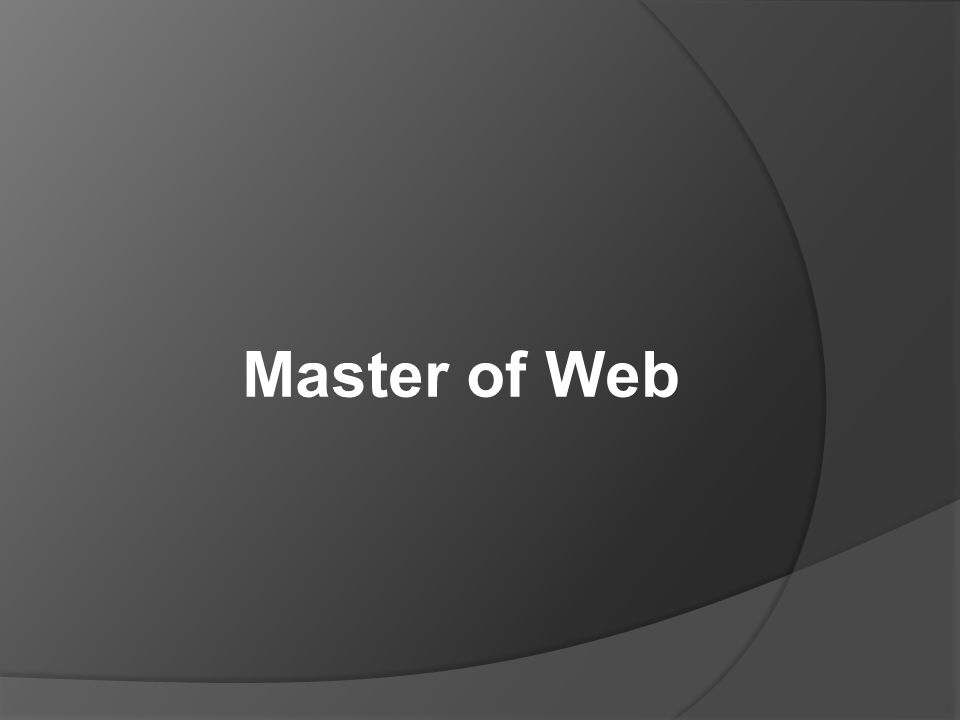 Master of Web