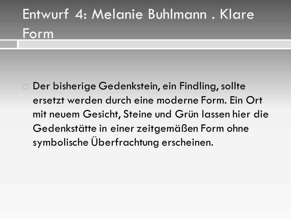 Entwurf 4: Melanie Buhlmann.