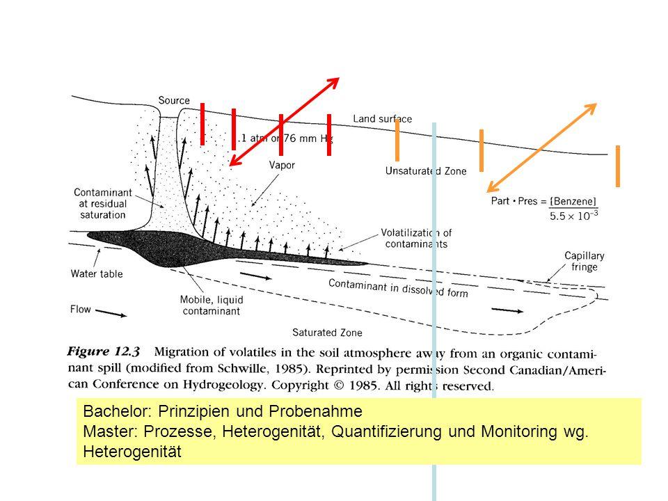 Bachelor: Prinzipien und Probenahme Master: Prozesse, Heterogenität, Quantifizierung und Monitoring wg.
