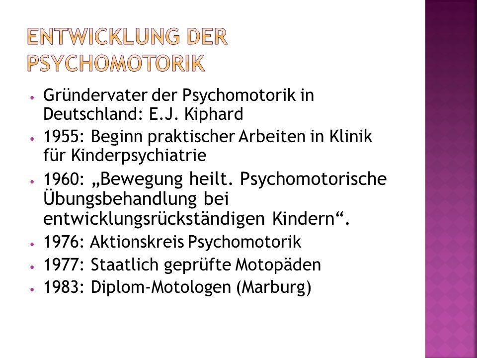 Gründervater der Psychomotorik in Deutschland: E.J.