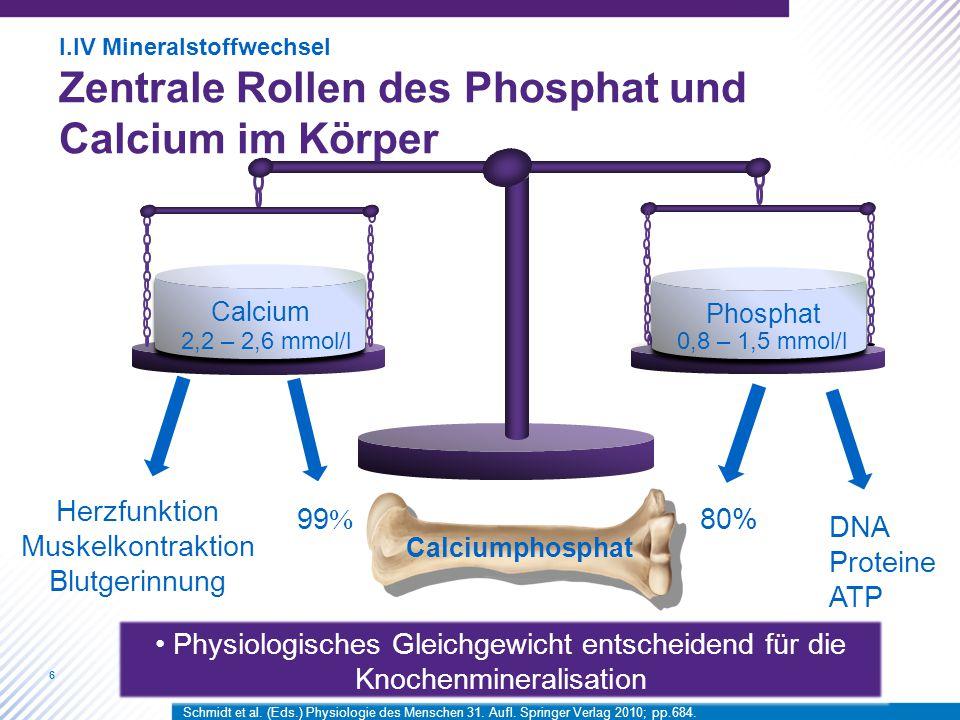 6 Calcium Phosphat Herzfunktion Muskelkontraktion Blutgerinnung Calciumphosphat 99 % 80% DNA Proteine ATP Physiologisches Gleichgewicht entscheidend f