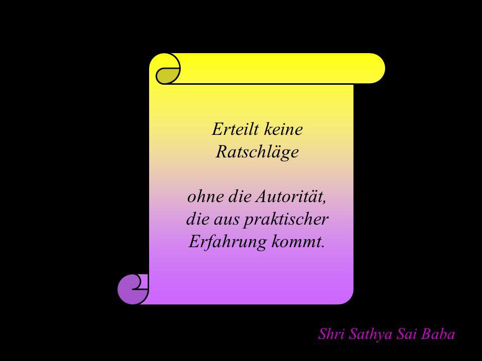 Shri Sathya Sai Baba Nehmt einen der zahllosen Namen Gottes auf.