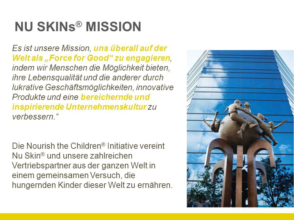 KINDERN MITHILFE EINES EINZIGARTIGEN KONZEPTS HELFEN 2002 hat Nu Skin ® die NTC Initiative gegründet, um bei der weltweiten Hungerepidemie zu helfen.