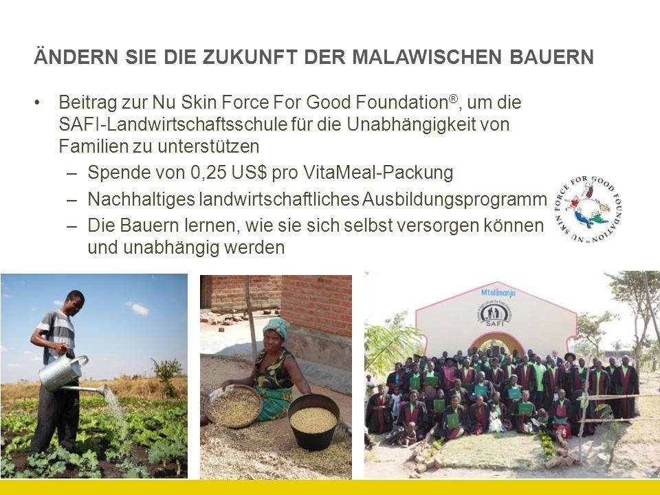 ÄNDERN SIE DIE ZUKUNFT DER MALAWISCHEN BAUERN Beitrag zur Nu Skin Force For Good Foundation ®, um die SAFI-Landwirtschaftsschule für die Unabhängigkei