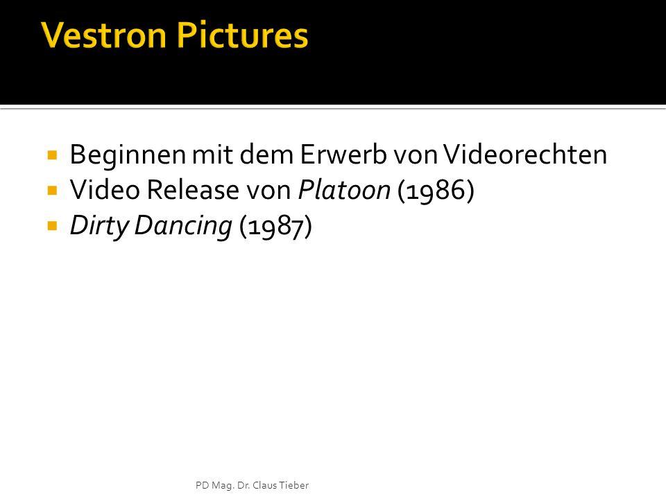  Beginnen mit dem Erwerb von Videorechten  Video Release von Platoon (1986)  Dirty Dancing (1987) PD Mag.