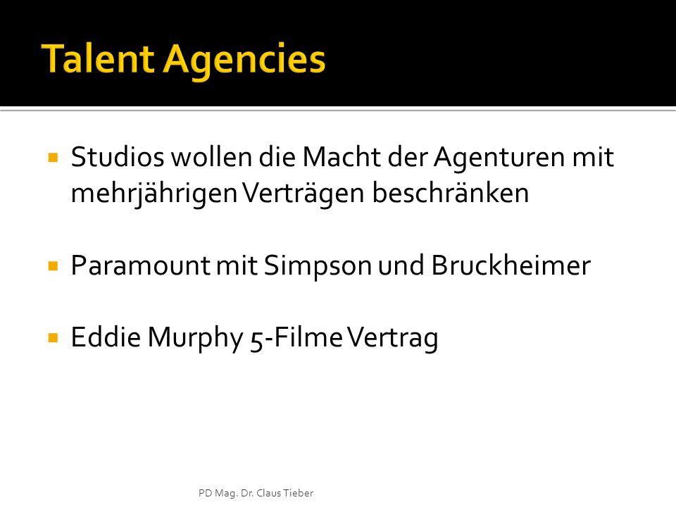  Studios wollen die Macht der Agenturen mit mehrjährigen Verträgen beschränken  Paramount mit Simpson und Bruckheimer  Eddie Murphy 5-Filme Vertrag PD Mag.