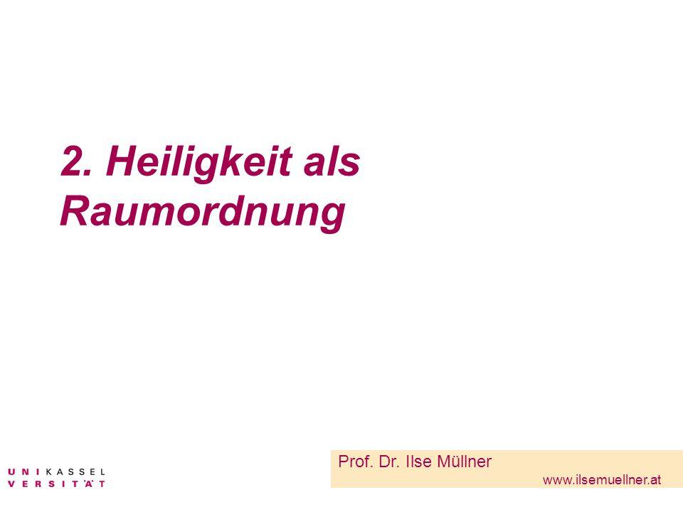 2. Heiligkeit als Raumordnung Prof. Dr. Ilse Müllner www.ilsemuellner.at