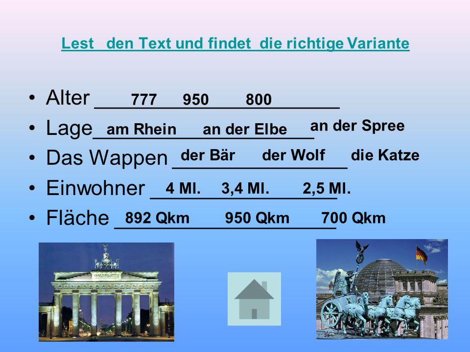 Quitz Deutsche Städte