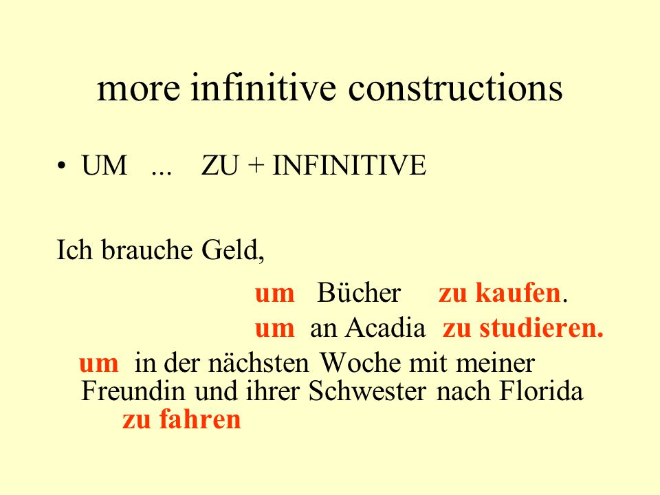 Verbs with separable prefixes abschneiden Günter will ein Stück Pizza abschneiden.