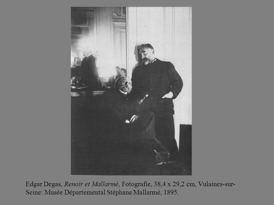 Edgar Degas, Renoir et Mallarmé, Fotografie, 38,4 x 29,2 cm, Vulaines-sur- Seine: Musée Départemental Stéphane Mallarmé, 1895.