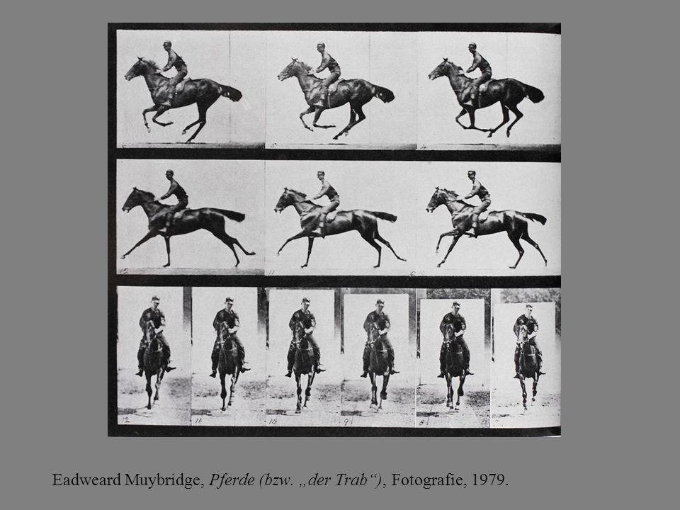 """Eadweard Muybridge, Pferde (bzw. """"der Trab""""), Fotografie, 1979."""