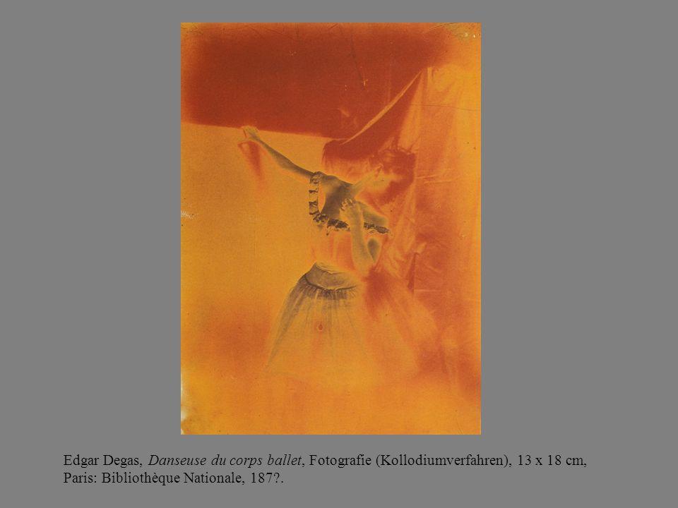 Edgar Degas, Danseuse du corps ballet, Fotografie (Kollodiumverfahren), 13 x 18 cm, Paris: Bibliothèque Nationale, 187?.