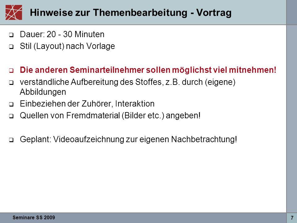 Seminare SS 2009 18 RSerPool: Standardisierte Server-Replikation - Nils  Häufig: Server poolen (z.B.