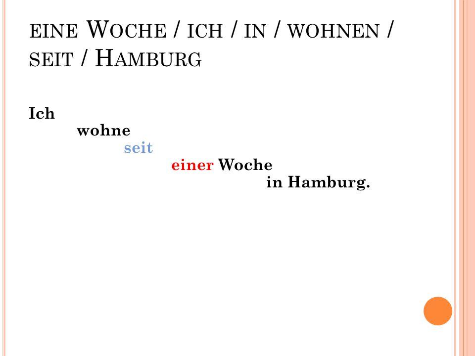 WIE / ZU / DER B AHNHOF / KOMMEN / MAN ? Wie kommt man zu dem (zum) Bahnhof?
