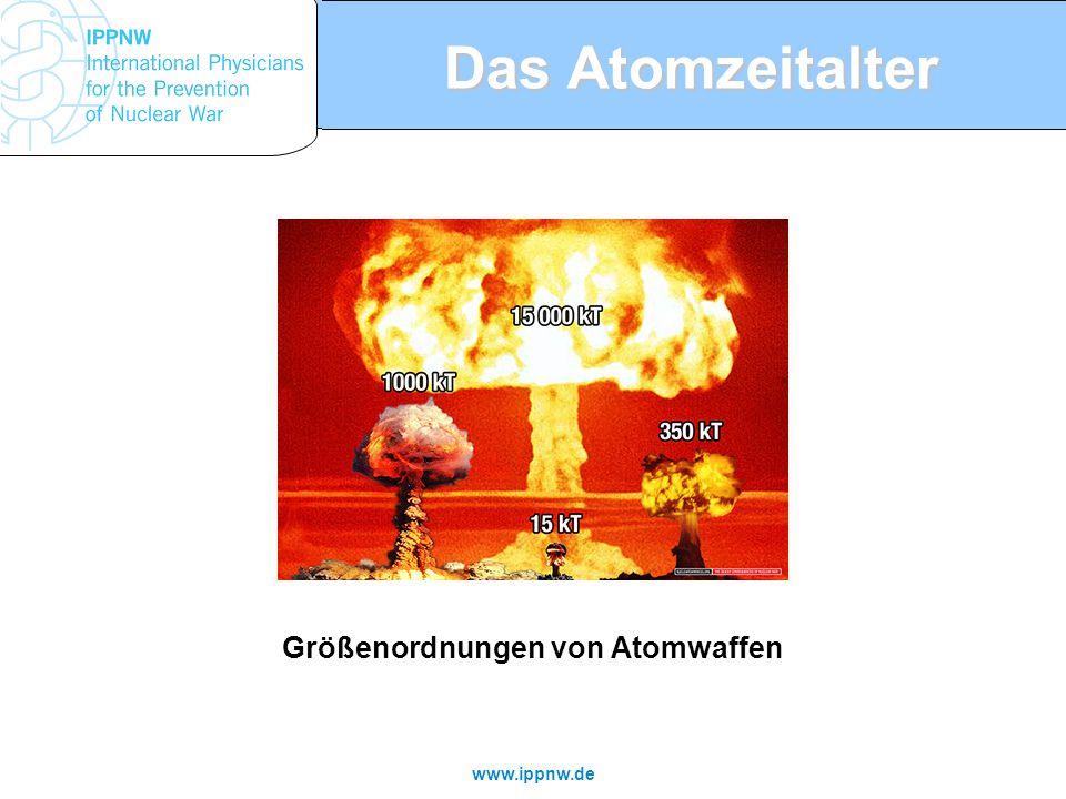 www.ippnw.de Das Atomzeitalter Größenordnungen von Atomwaffen