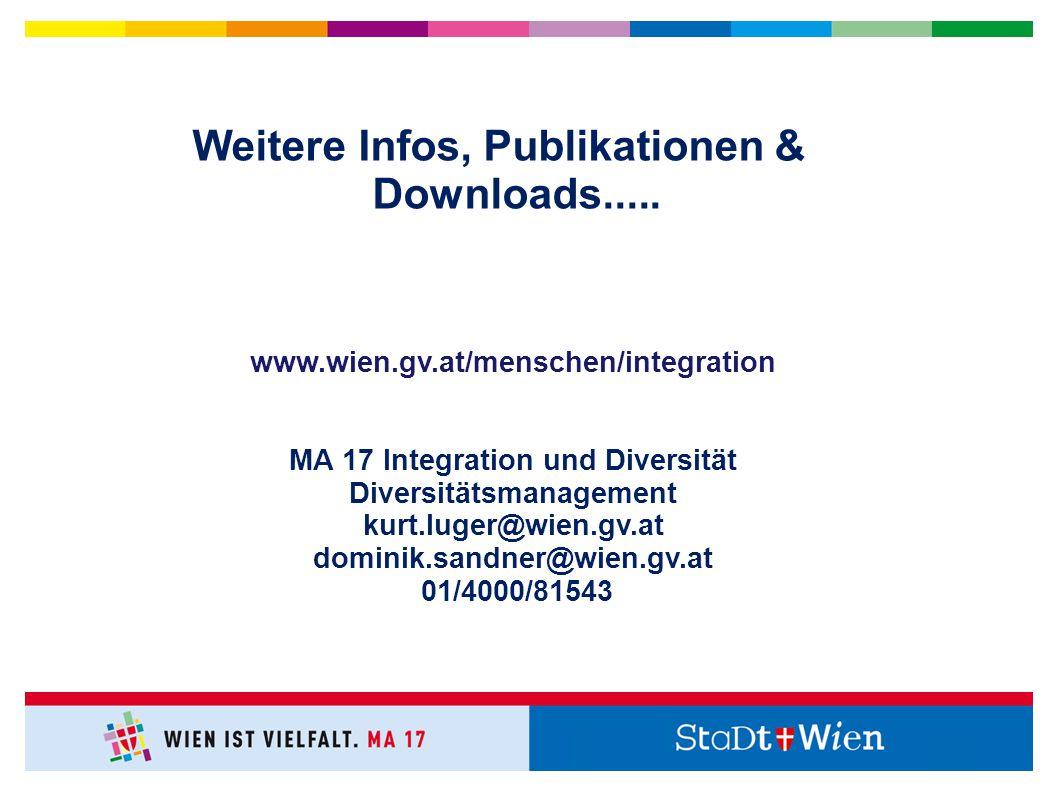 Weitere Infos, Publikationen & Downloads.....