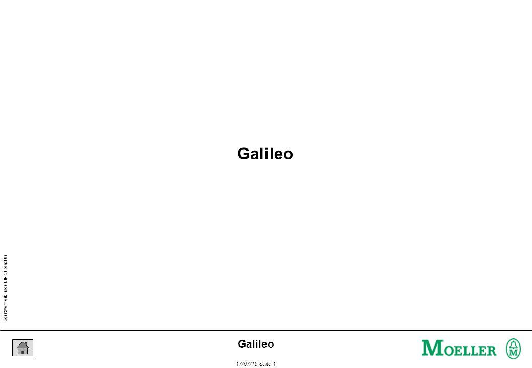 Schutzvermerk nach DIN 34 beachten 17/07/15 Seite 12 Galileo Projekt eröffnen MV4-Gerätetyp auswählen SPS-Typ auswählen Variablen und Text generieren Masken anlegen Nachrichten generieren und zuweisen Projekt kompilieren Download (PC-Karte oder seriell) Projekt auf dem Panel testen MV4 – Projekterstellung und -transfer Projekterstellung und Transfer