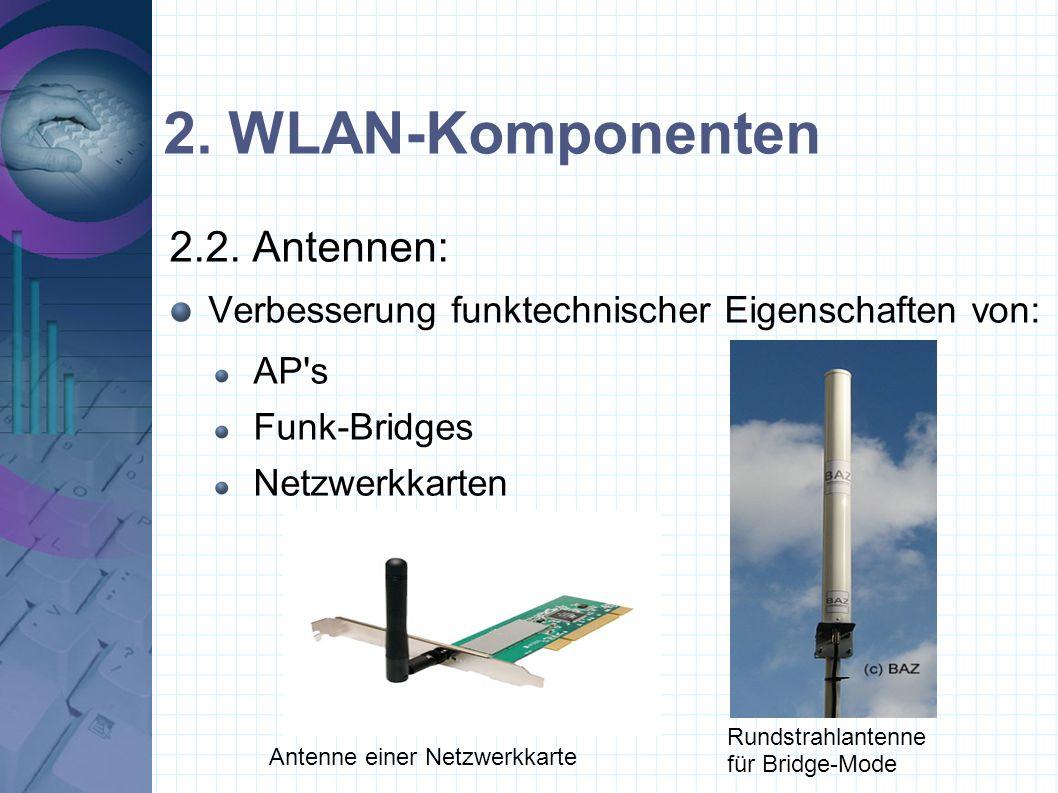 2.WLAN-Komponenten 2.2.