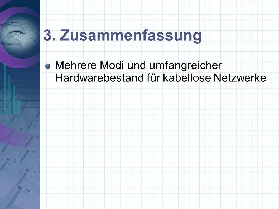 Mehrere Modi und umfangreicher Hardwarebestand für kabellose Netzwerke