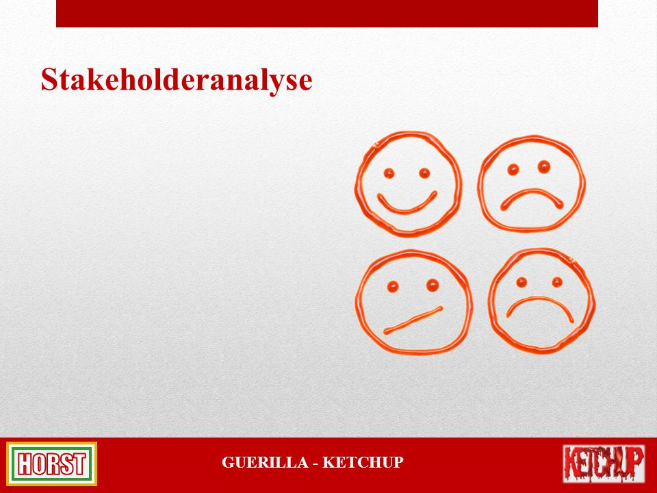 GUERILLA - KETCHUP Stakeholderanalyse