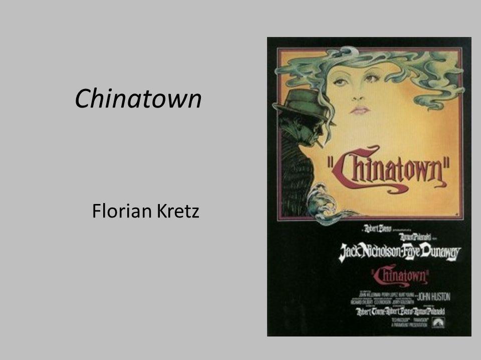 Chinatown Release: Juni 1974 Produzent: Robert Evans, Paramount Drehbuch: Robert Towne Regie: Roman Polanski Darsteller: Jack Nicholson, Faye Dunawaye, John Huston Academy Award für bestes Drehbuch 1975 Fortsetzung: The Two Jakes (1990)