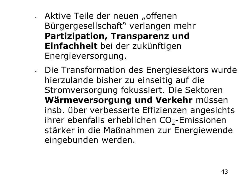 """Aktive Teile der neuen """"offenen Bürgergesellschaft"""" verlangen mehr Partizipation, Transparenz und Einfachheit bei der zukünftigen Energieversorgung. D"""