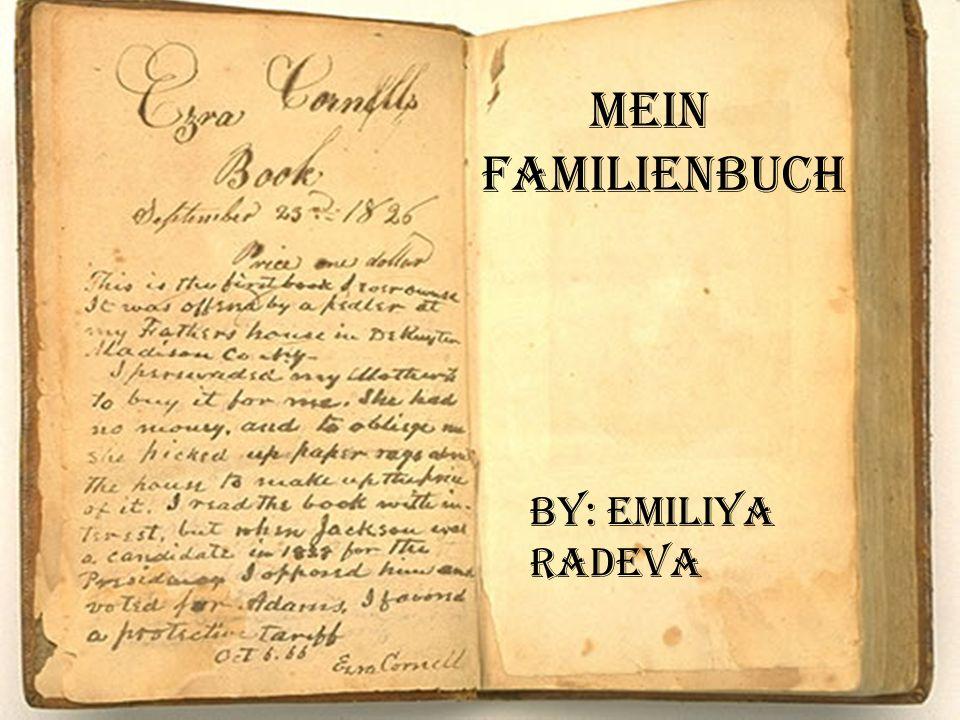 Mein Familienbuch By: Emiliya Radeva