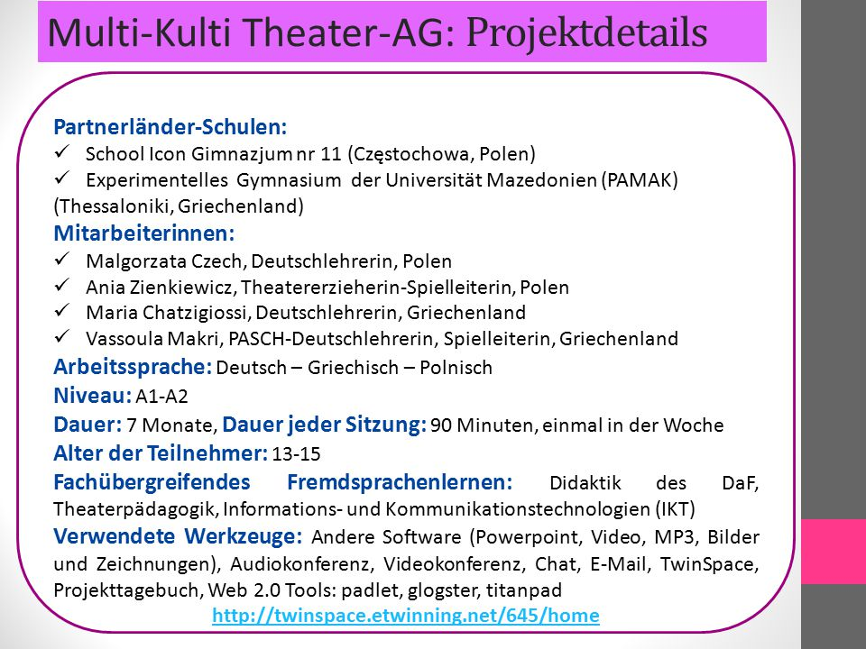 Multi-Kulti Theater: Evaluation