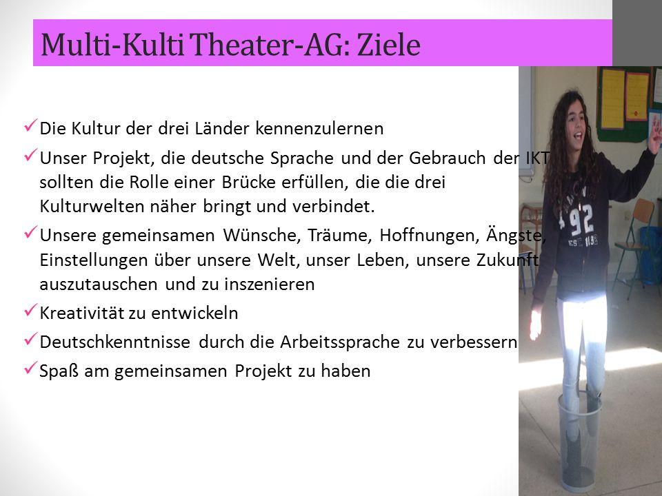 Die Kultur der drei Länder kennenzulernen Unser Projekt, die deutsche Sprache und der Gebrauch der IKT sollten die Rolle einer Brücke erfüllen, die di