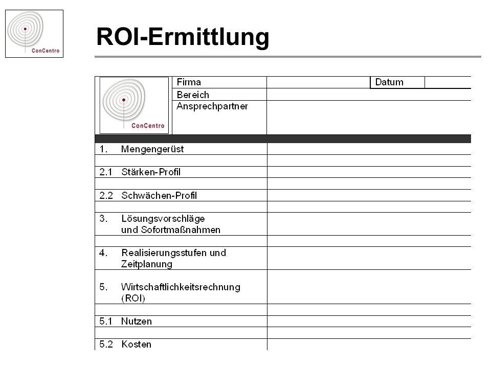 ROI-Ermittlung