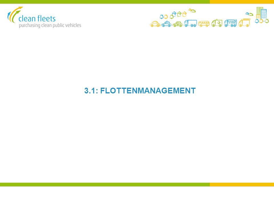 FLOTTENMANAGEMENT Jeder Flottenmanager hat einen unterschiedlichen Grad an Einfluss auf und über die Fahrzeugflotte Die Organisationseinheit definiert die Anfordernungen an die Flotte und der Flottenmanager organisiert die Beschaffung (und Bewirtschaftung) Der Flottenmanager versteht die Nutzungsarten/ Bedürfnisse der Angestellten und macht basierend hierauf Vorschläge