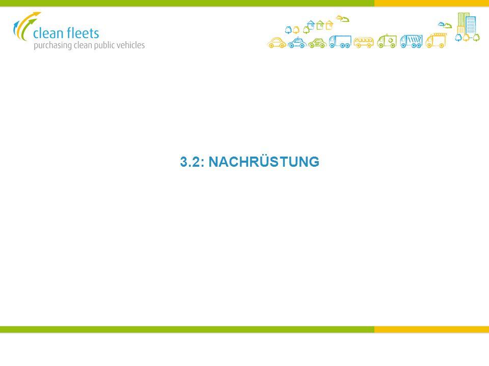 BESCHAFFUNGS BEISPIEL 4 – MÜLLFAHRZEUGE Müllentsorgung Malta (WASTESERV MALTA LIMITED)  Mindestens Euro IV Müllfahrzeuge (zum Transport von Elektroschrott)  GPP Aktionsplan 2011, 30% der Angebote bis 2013 sauberer zu gestalten  CVD Methode genutzt – Option 1  Nachrüstung statt Neufahrzeugen war erlaubt  Da Malta eine der ältesten Fahrzeugflotten hat, wurde dies als starkes politisch Zeichen gewertet