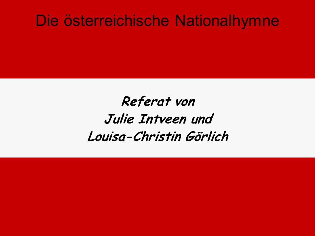 Die österreichische Nationalhymne