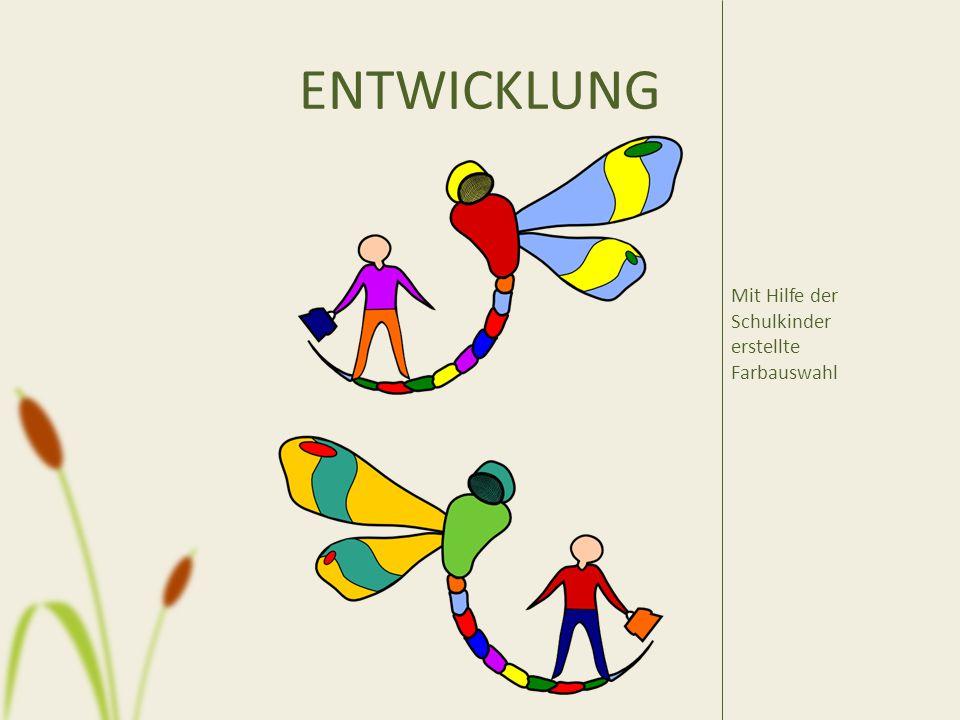 ENTWICKLUNG Mit Hilfe der Schulkinder erstellte Farbauswahl