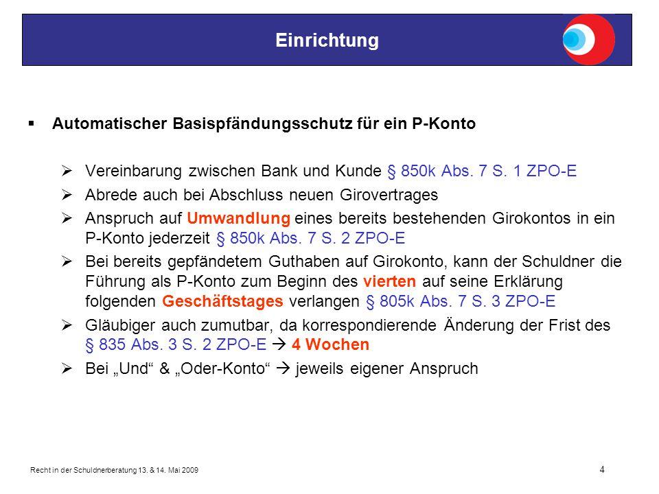 Recht in der Schuldnerberatung 13.& 14.