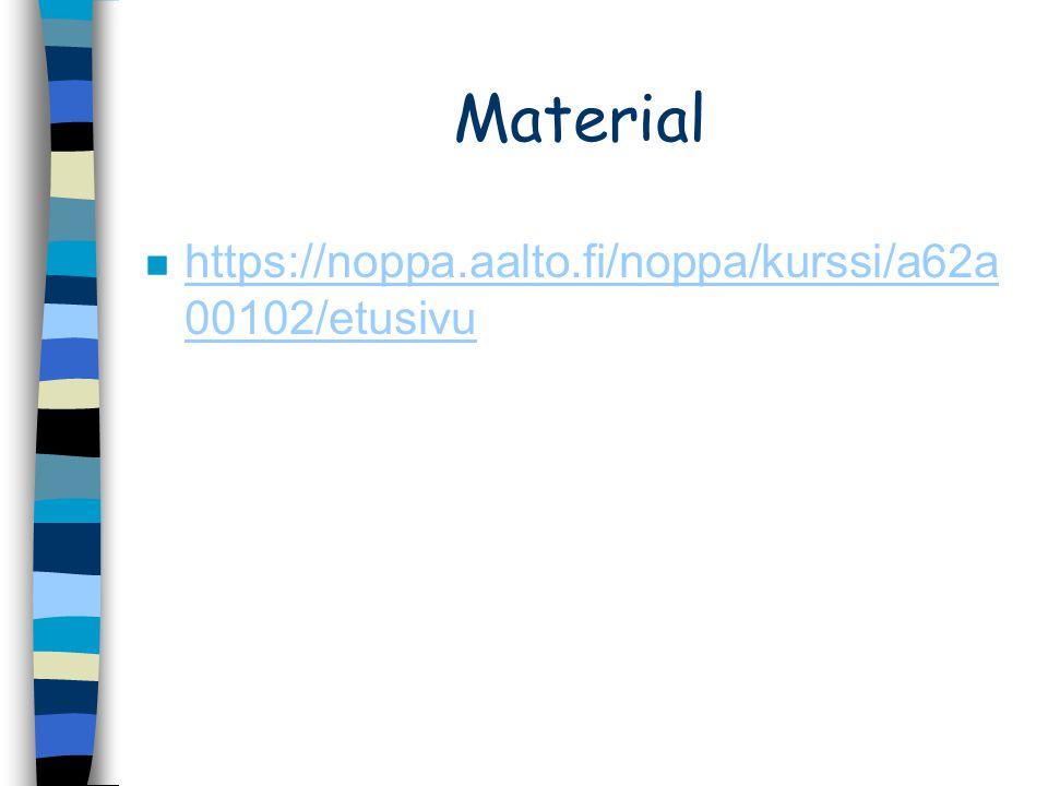 Material n https://noppa.aalto.fi/noppa/kurssi/a62a 00102/etusivu https://noppa.aalto.fi/noppa/kurssi/a62a 00102/etusivu