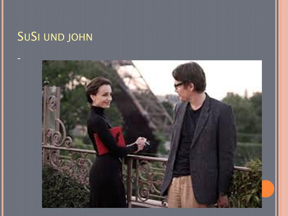 Susi: Mein Hund ist braun.John: Ich habe auch einen Hund.
