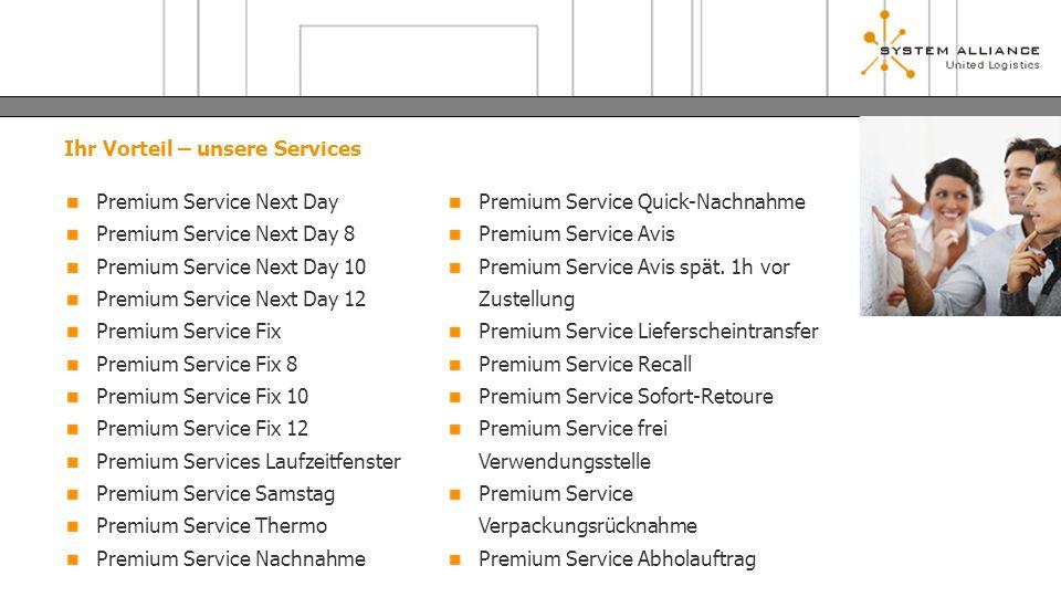Ihr Vorteil – unsere Services Premium Service Next Day Premium Service Next Day 8 Premium Service Next Day 10 Premium Service Next Day 12 Premium Serv