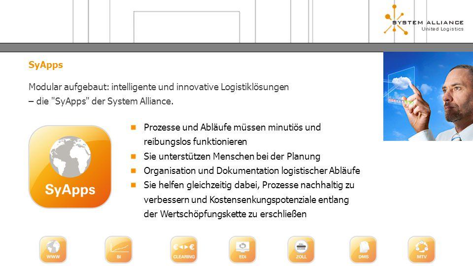 SyApps Modular aufgebaut: intelligente und innovative Logistiklösungen – die
