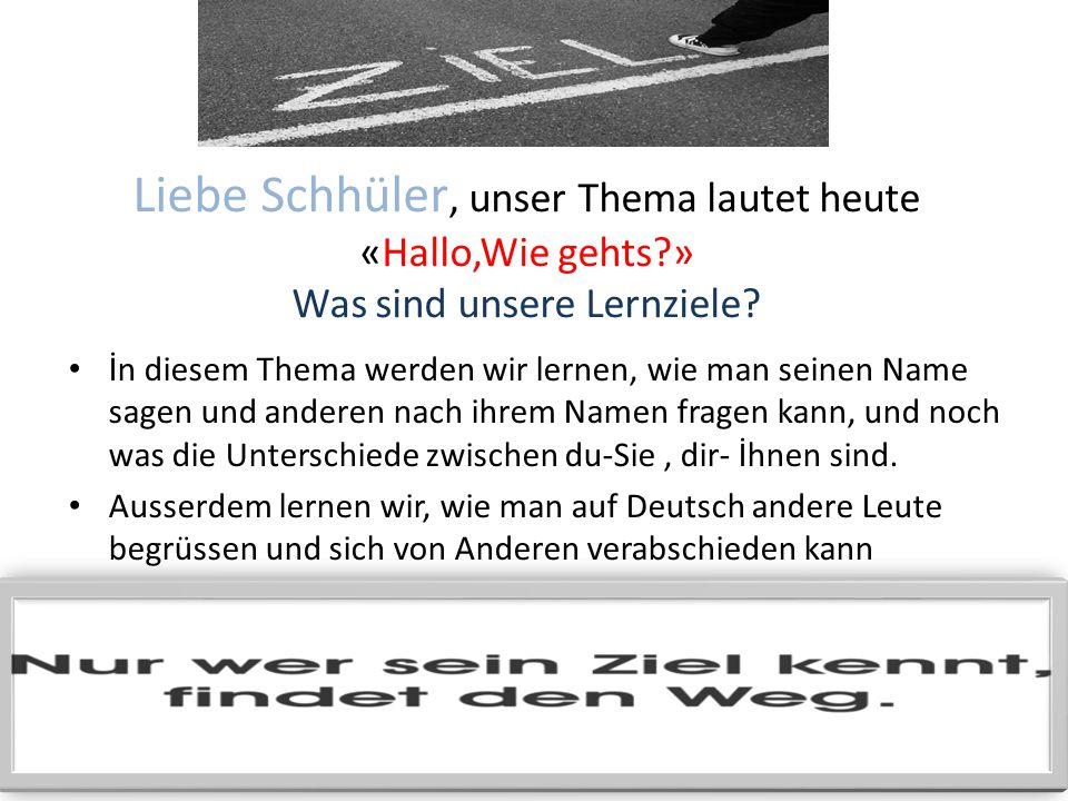 ÖZEL ÖĞRETİM YÖNTEMLERİ DERSİ 2 Das Unterrichtsbuch; Deutsch ist Spitze Das Thema: Hallo,Wie gehts? Hazırlayan ; YUNUS EMRE SARI; miyatuk83@hotmail.co