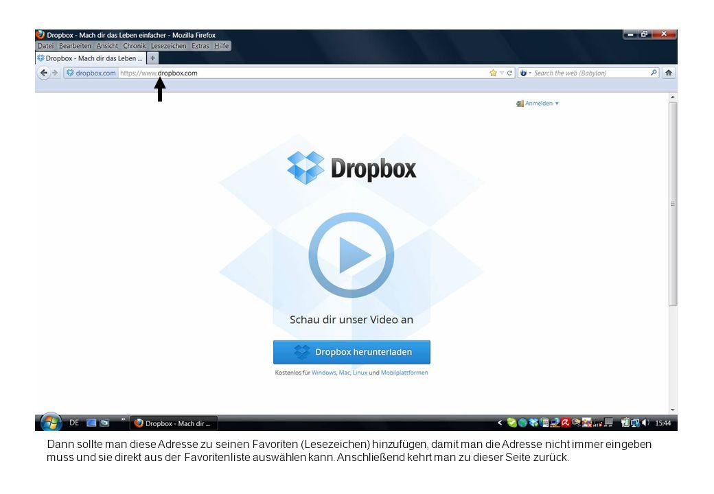 Dokumentation Ordner freigeben Voraussetzung hierfür ist zunächst die Installation von Dropbox auf den Rechnern der entsprechenden Personen.