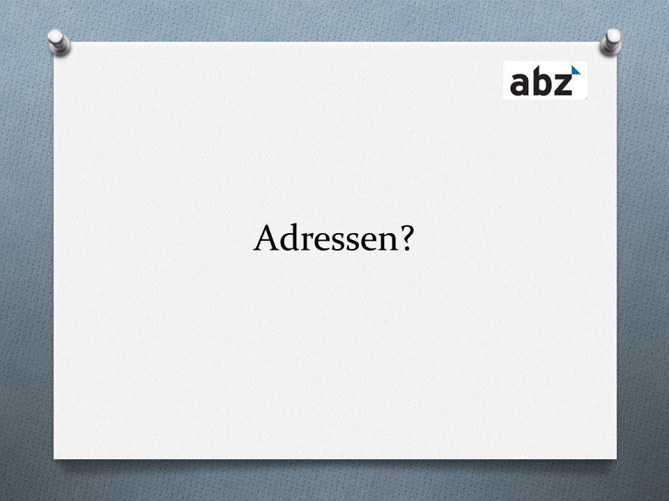 Adressen?