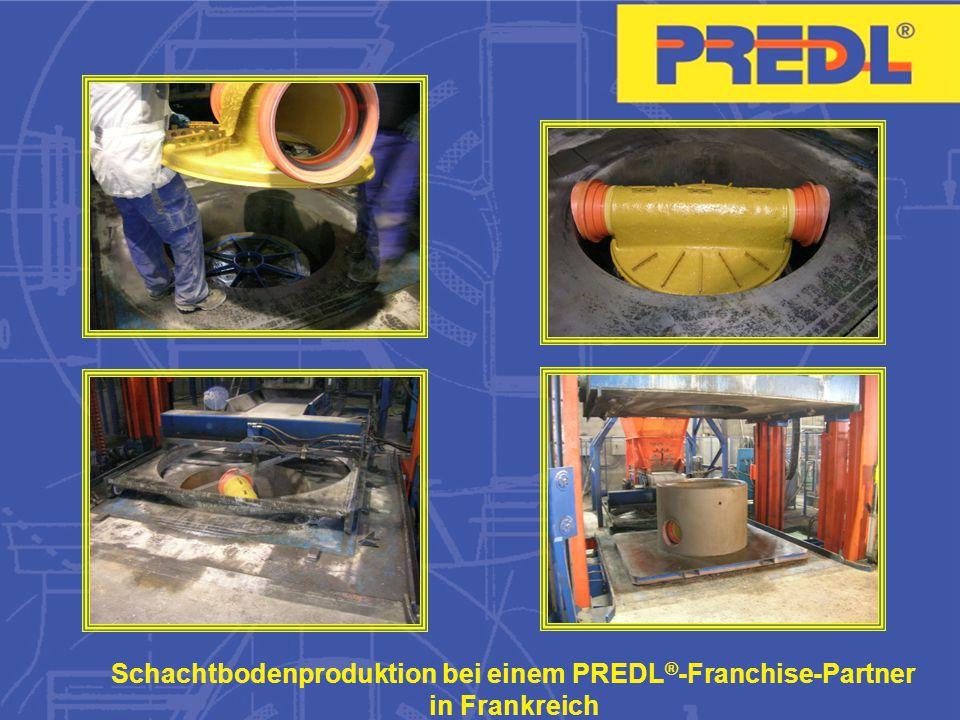 Schachtbodenproduktion bei einem PREDL ® -Franchise-Partner in Frankreich